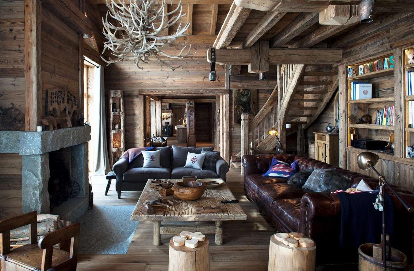 Кантри с деревянным декором