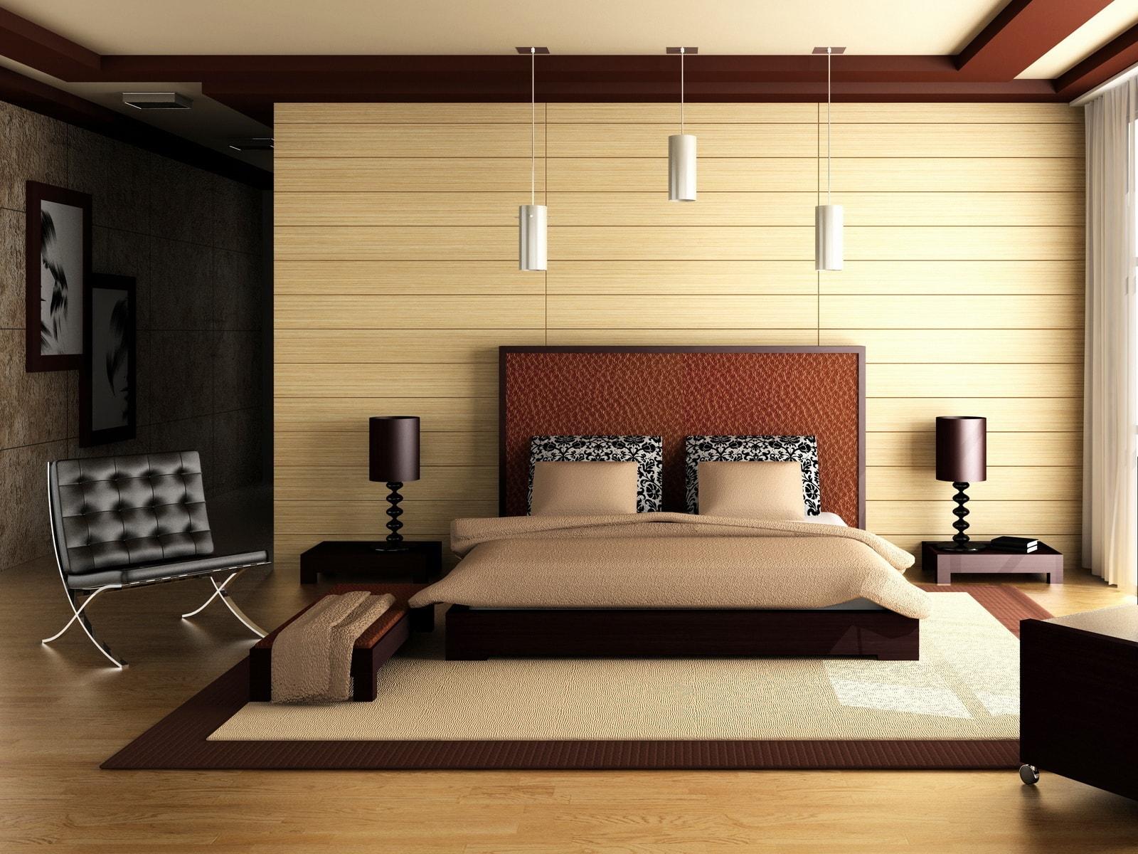 Спальня в бежевом цвете – изящная и аккуратна