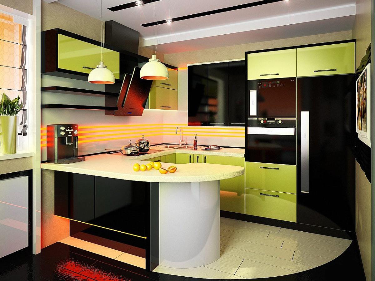 Кухня – это место, в котором допускаются всякие эксперименты с оттенками